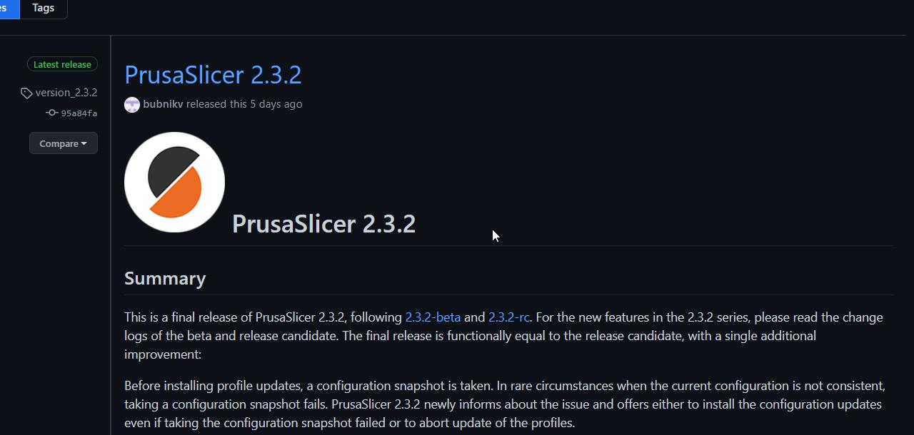 Neue Version Prusa Slicer