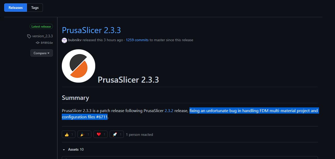 Prusa Slicer 2.3.3
