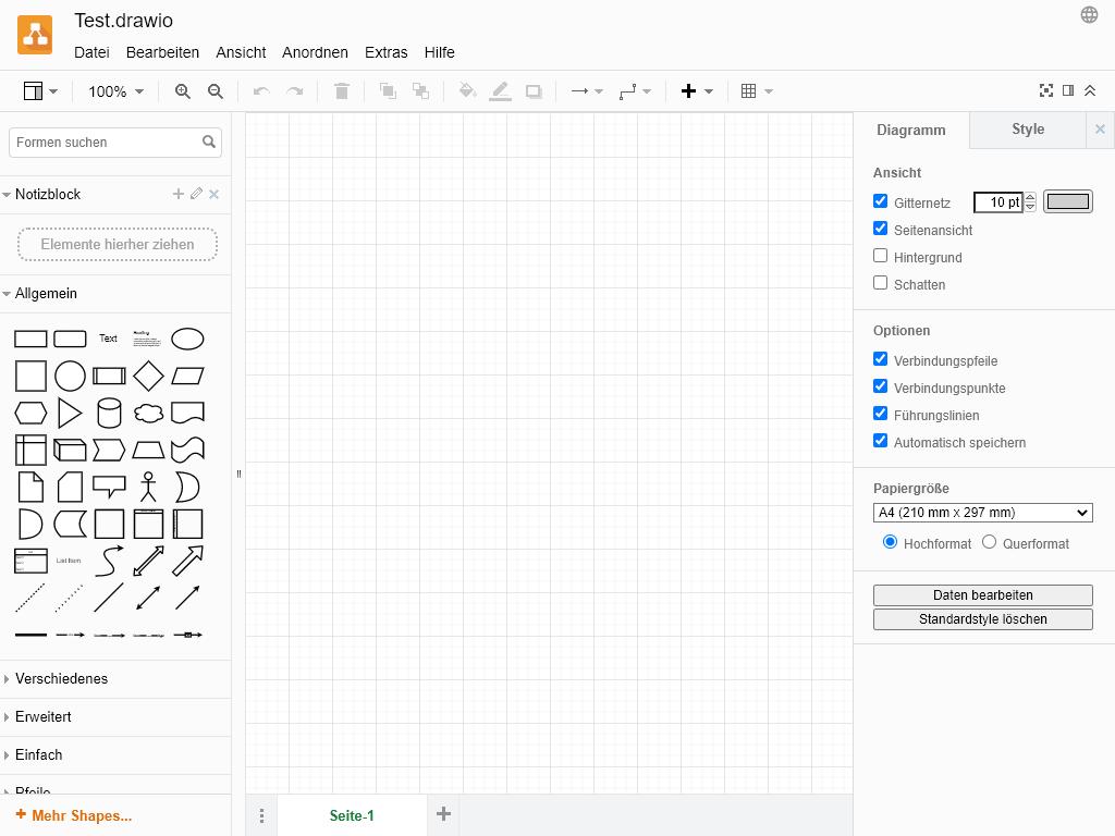 draw.io - PWA - Diagramme zeichnen