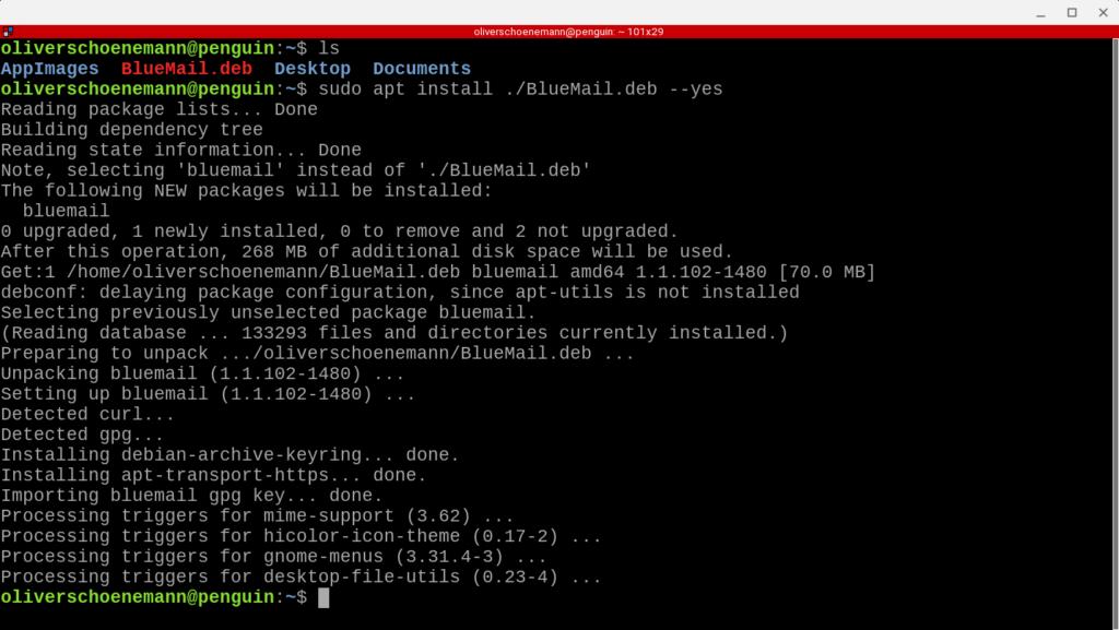 BlueMail Installation