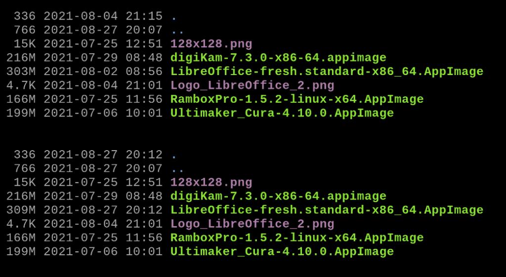 LibreOffice 7.2 AppImage im Dateisystem